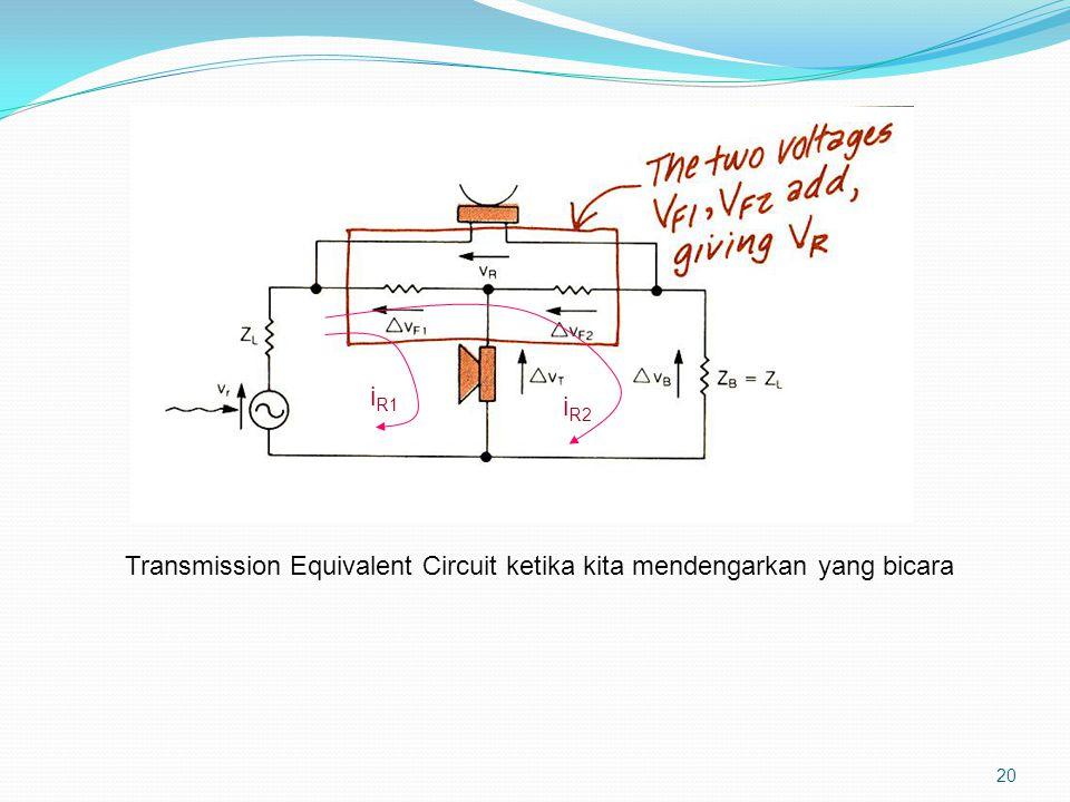 iR1 iR2 Transmission Equivalent Circuit ketika kita mendengarkan yang bicara
