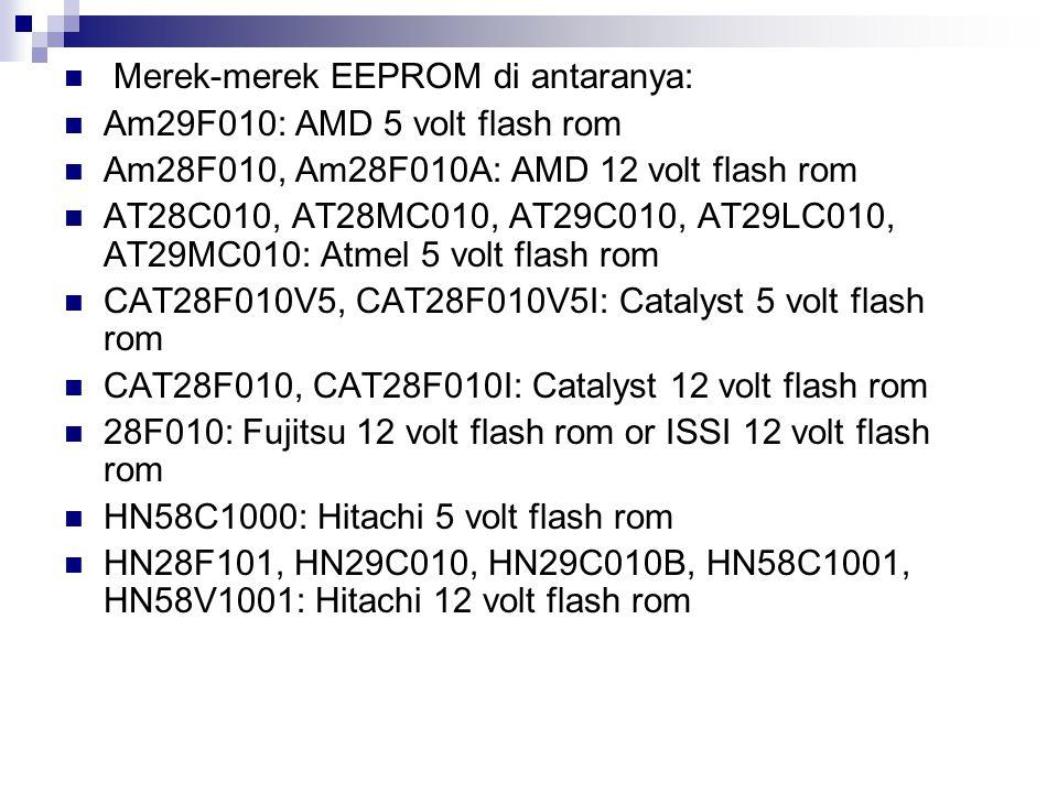 Merek-merek EEPROM di antaranya: