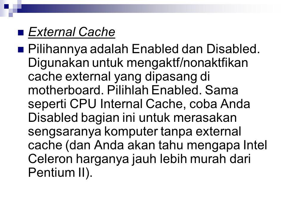 External Cache