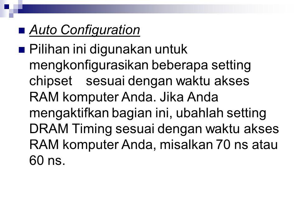 Auto Configuration