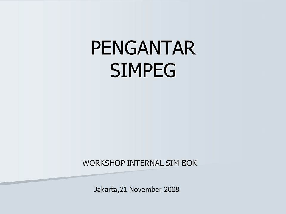 WORKSHOP INTERNAL SIM BOK