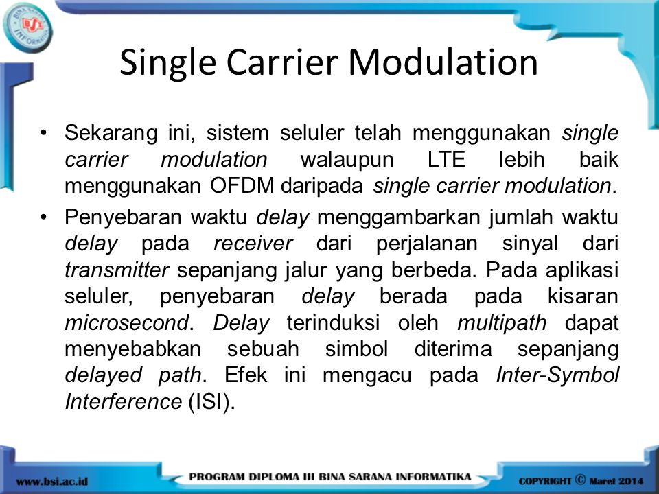 Single Carrier Modulation