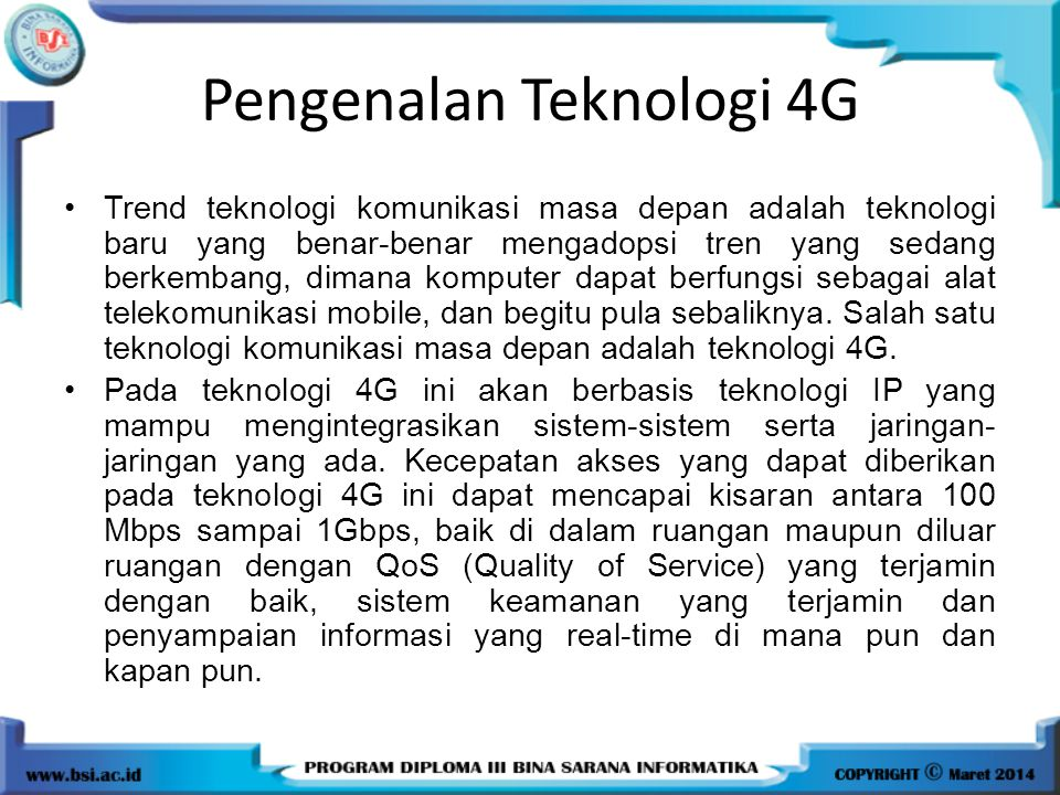 Pengenalan Teknologi 4G
