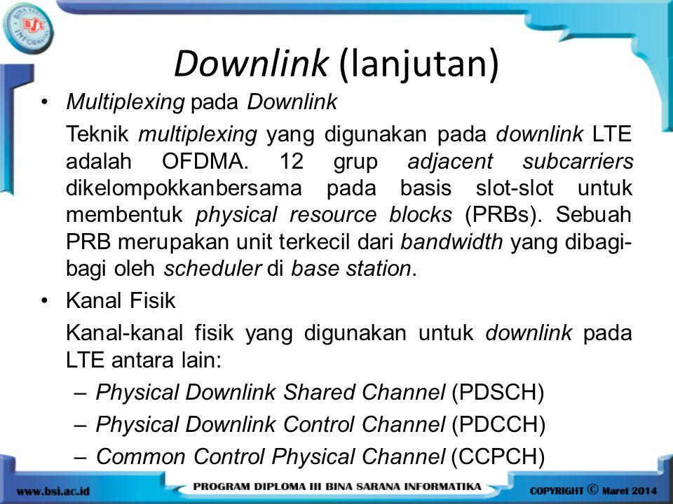 Downlink (lanjutan) Multiplexing pada Downlink