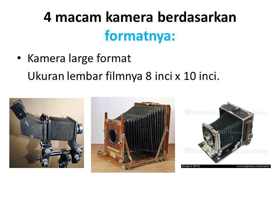 4 macam kamera berdasarkan formatnya: