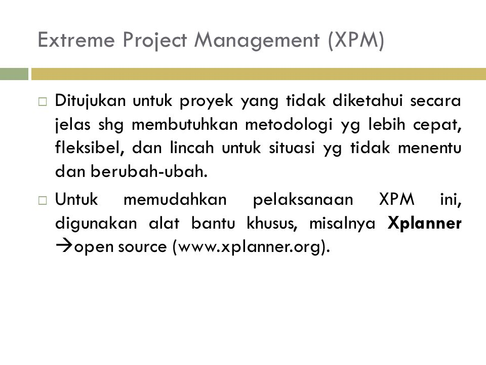 Extreme Project Management (XPM)