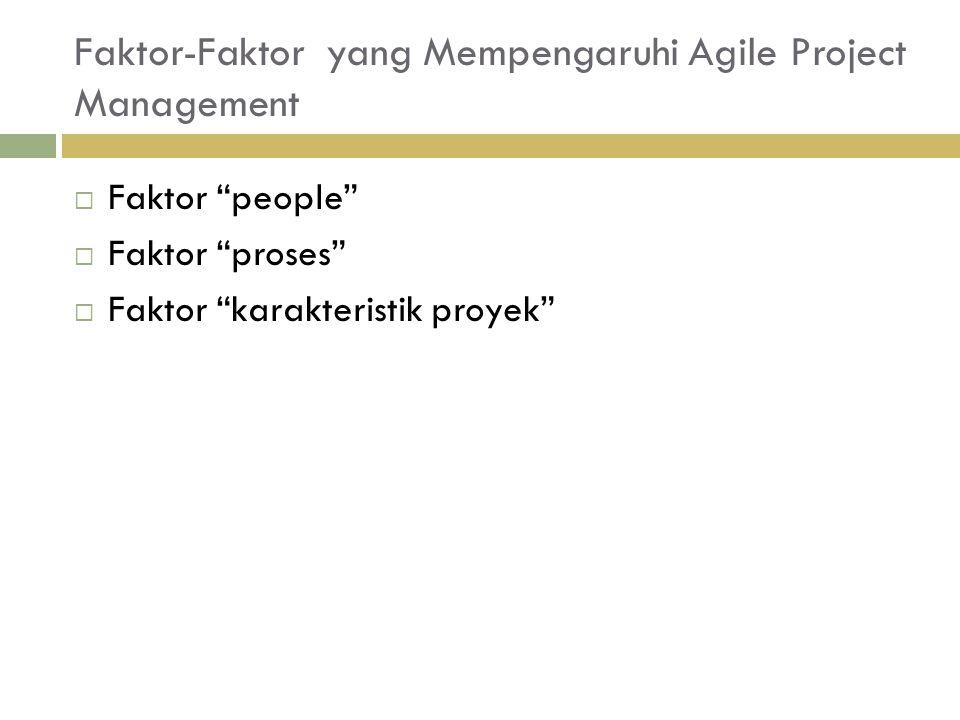 Faktor-Faktor yang Mempengaruhi Agile Project Management