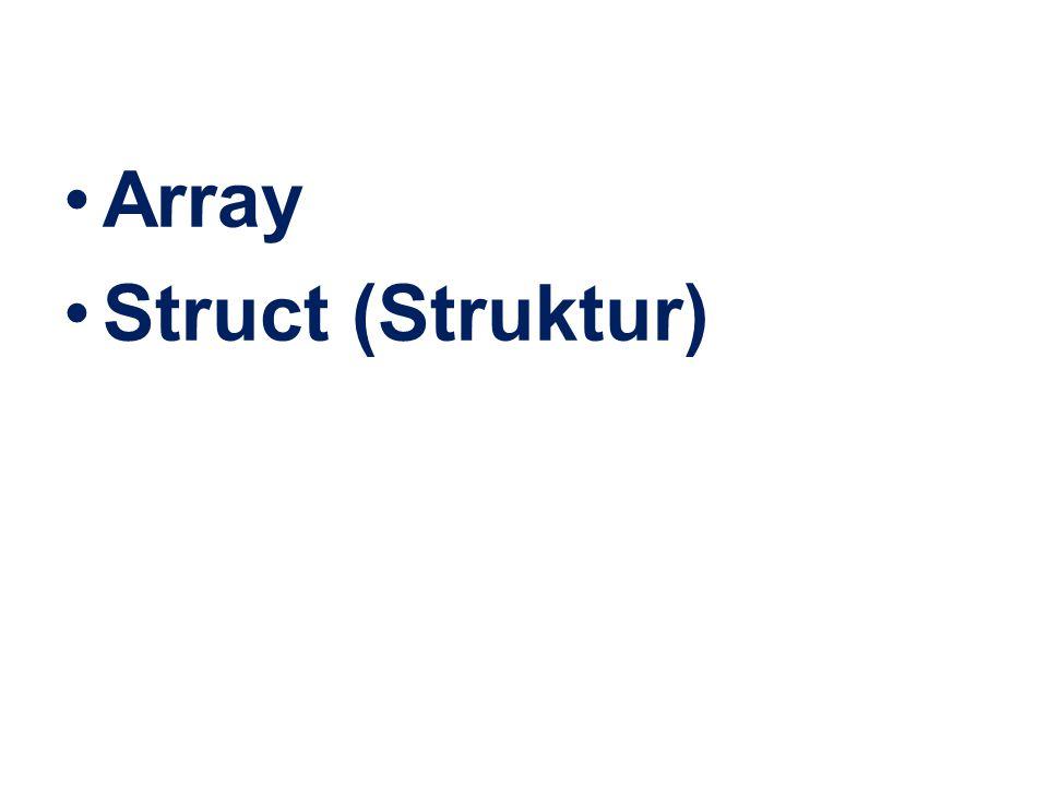 Array Struct (Struktur)