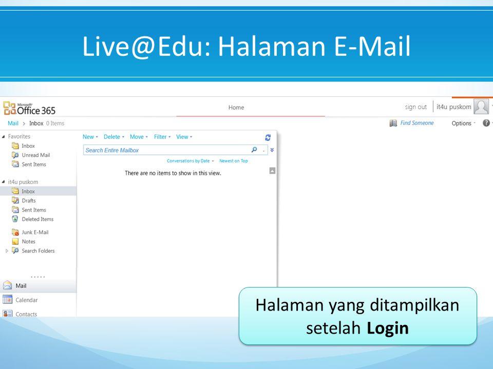 Live@Edu: Halaman E-Mail