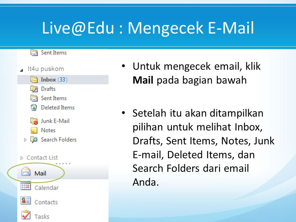 Live@Edu : Mengecek E-Mail