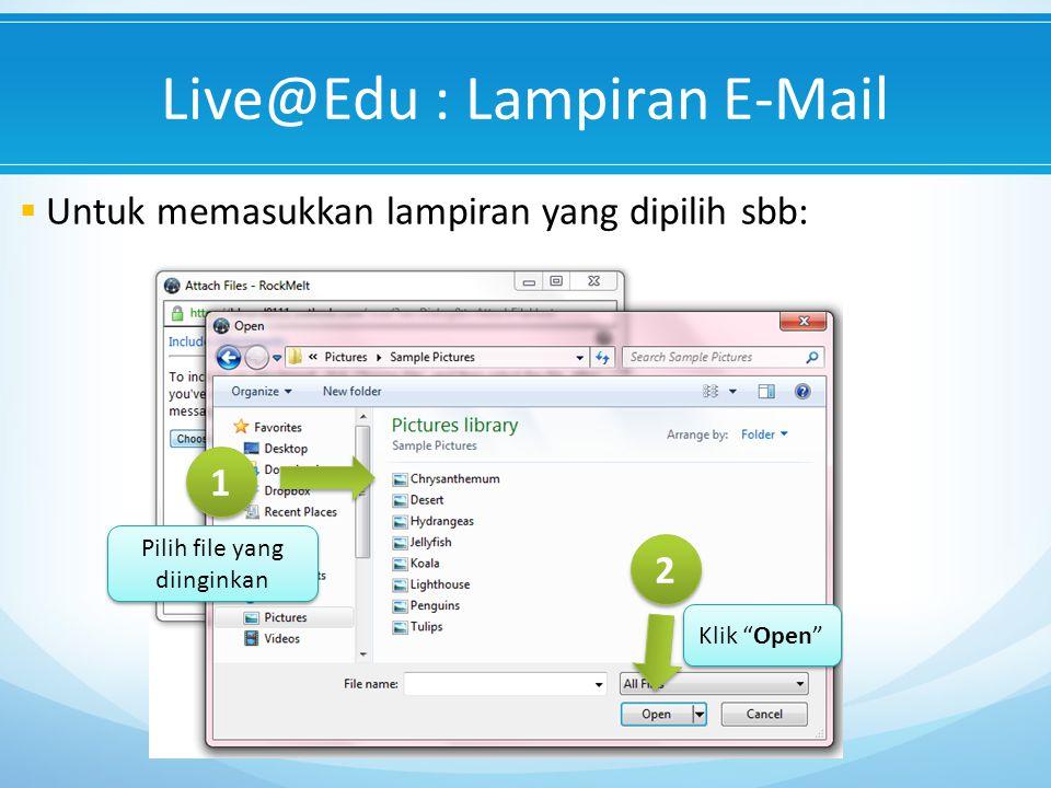 Live@Edu : Lampiran E-Mail