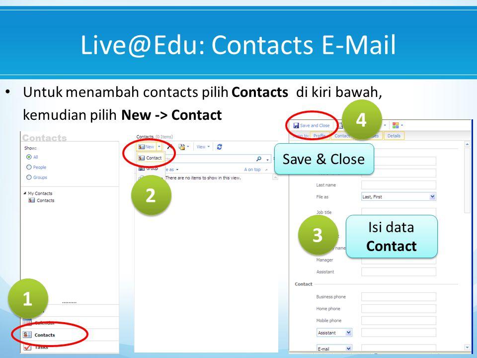 Live@Edu: Contacts E-Mail