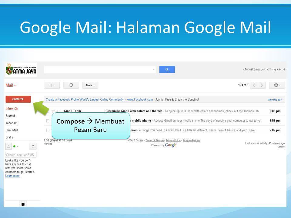 Google Mail: Halaman Google Mail