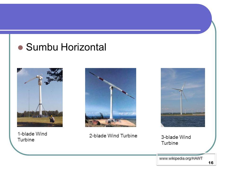 Sumbu Horizontal 1-blade Wind Turbine 2-blade Wind Turbine