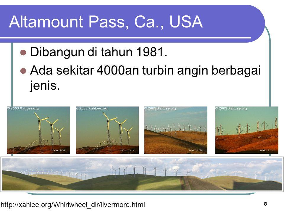 Altamount Pass, Ca., USA Dibangun di tahun 1981.