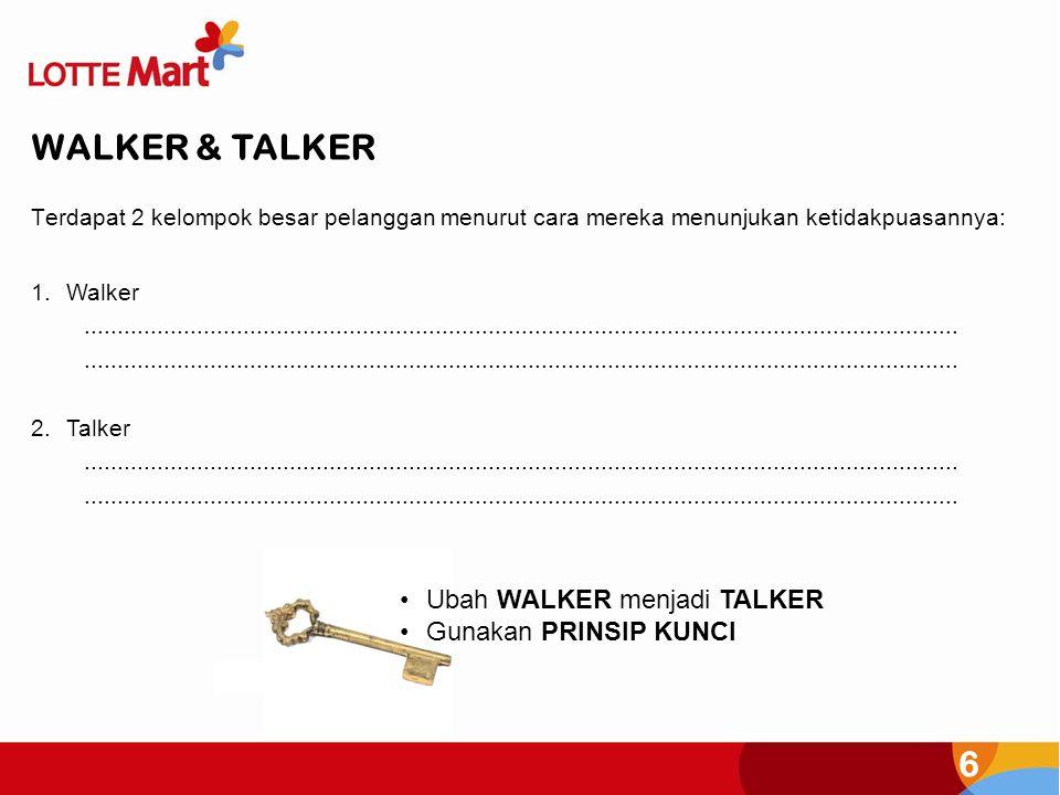 WALKER & TALKER Ubah WALKER menjadi TALKER Gunakan PRINSIP KUNCI