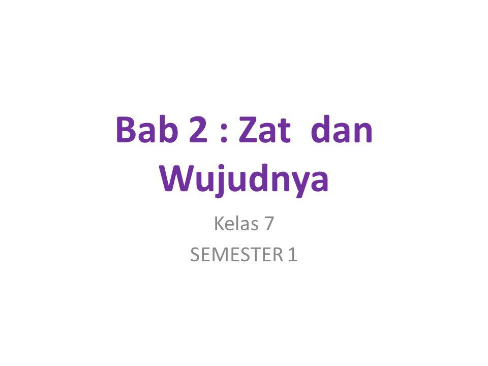 Bab 2 : Zat dan Wujudnya Kelas 7 SEMESTER 1