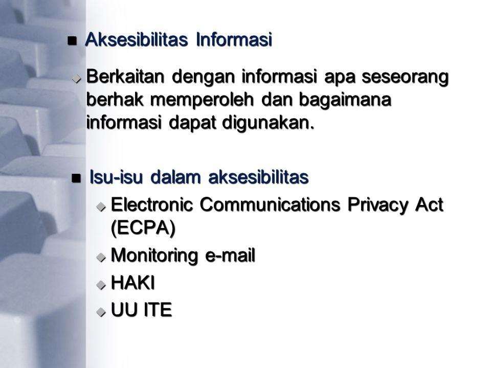 Aksesibilitas Informasi