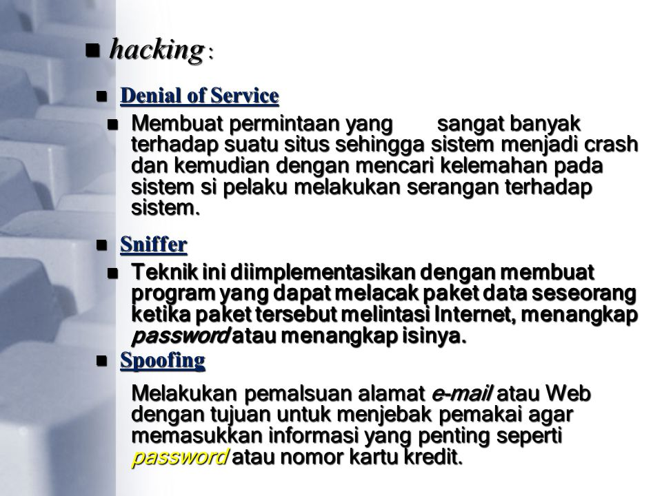 hacking : Denial of Service