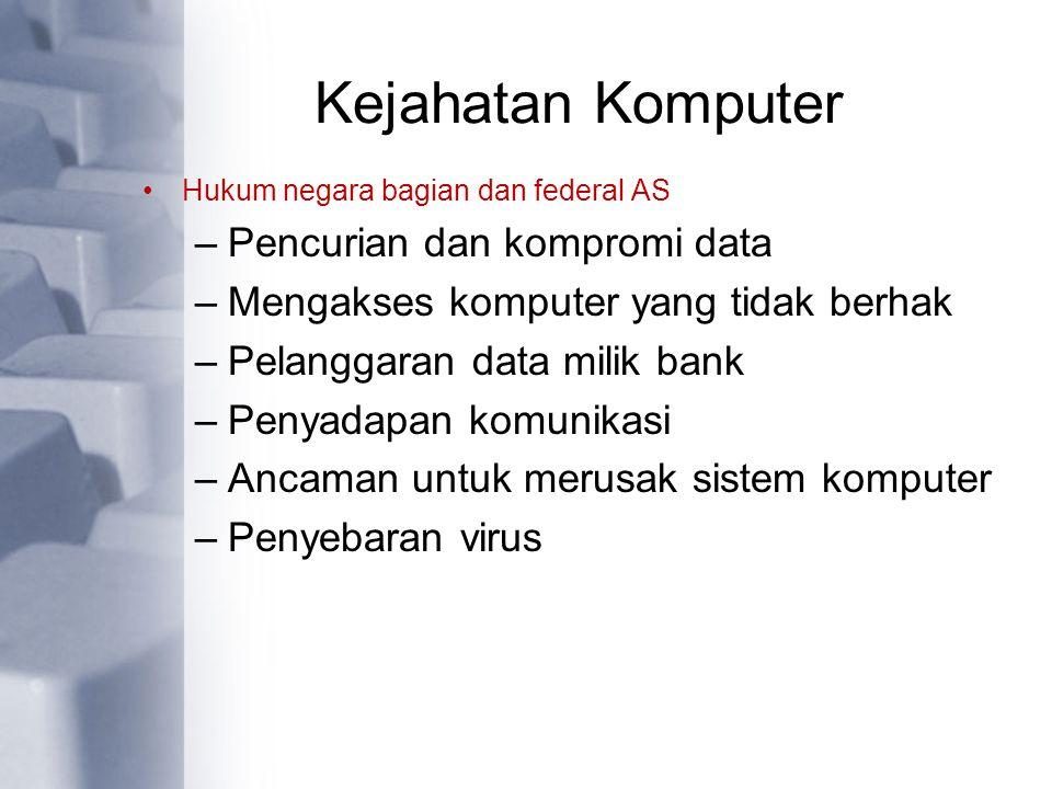 Kejahatan Komputer Pencurian dan kompromi data