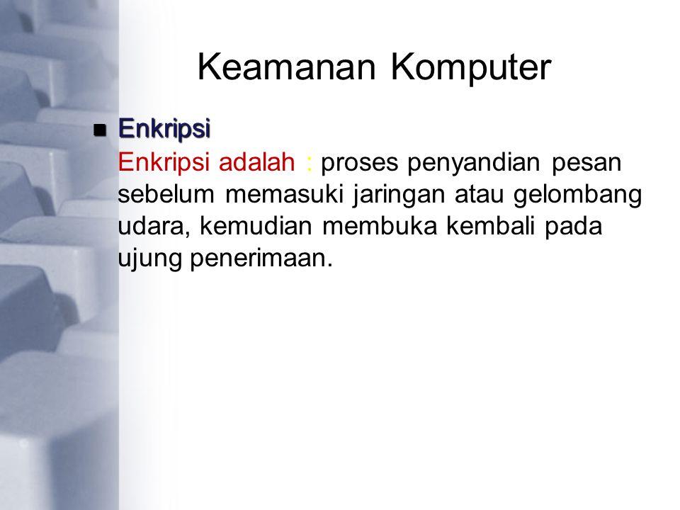 Keamanan Komputer Enkripsi