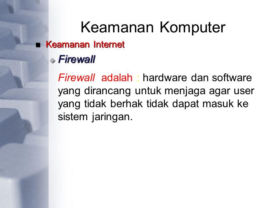 Keamanan Komputer Firewall