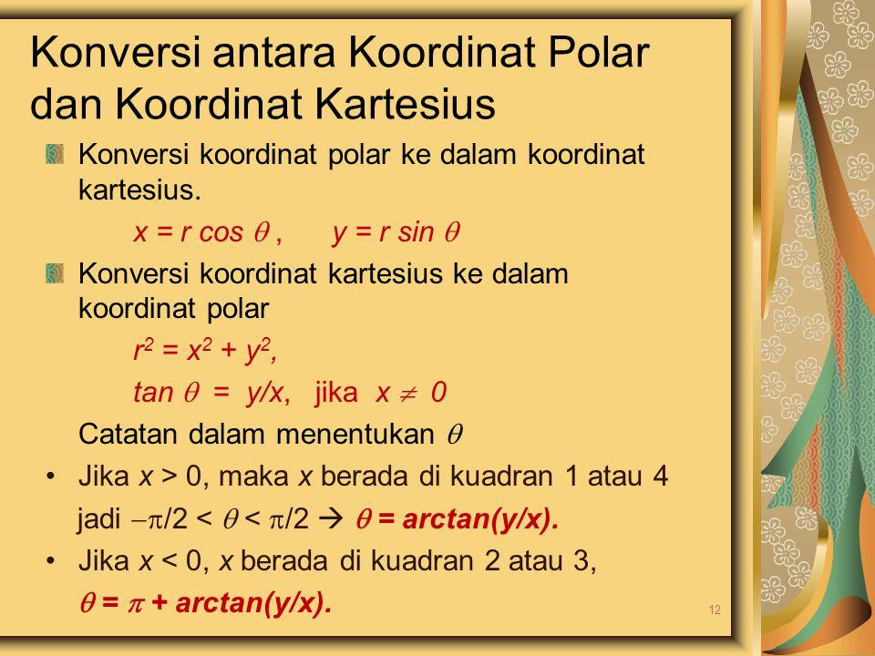 Konversi antara Koordinat Polar dan Koordinat Kartesius