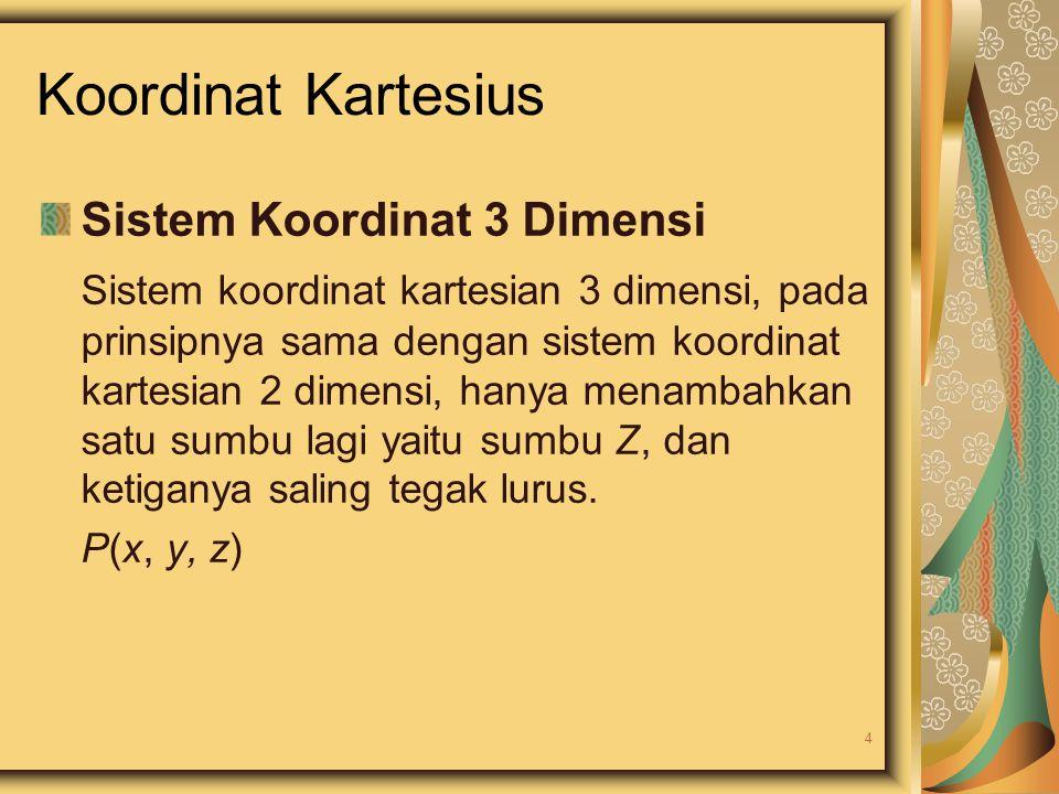 Koordinat Kartesius Sistem Koordinat 3 Dimensi