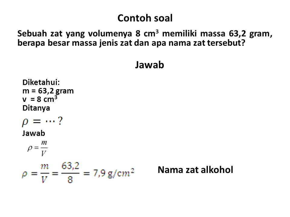 Contoh soal Jawab Nama zat alkohol