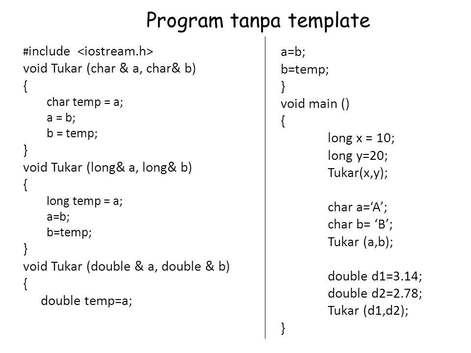 Program tanpa template