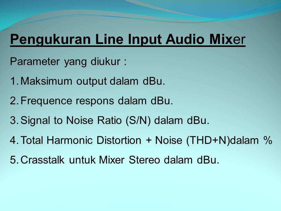 Pengukuran Line Input Audio Mixer