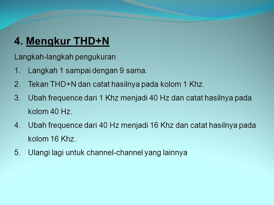 4. Mengkur THD+N Langkah-langkah pengukuran