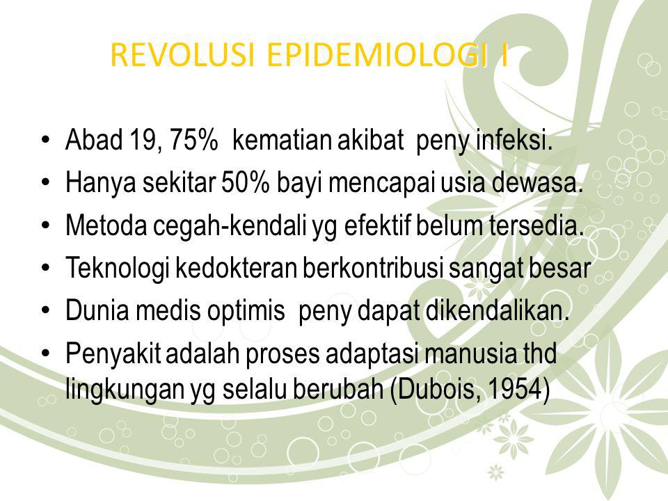 REVOLUSI EPIDEMIOLOGI I