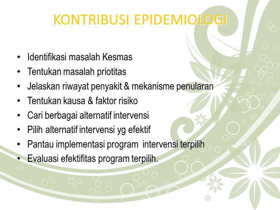 KONTRIBUSI EPIDEMIOLOGI