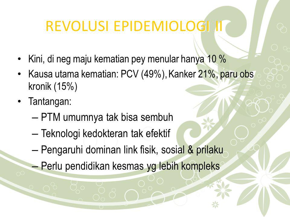 REVOLUSI EPIDEMIOLOGI II