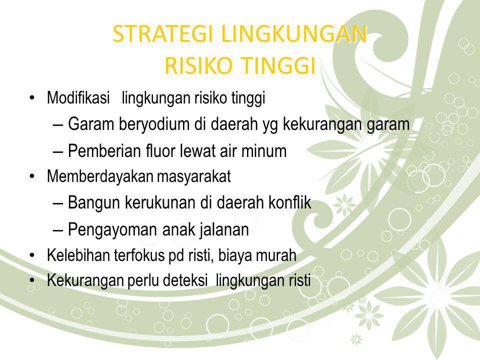 STRATEGI LINGKUNGAN RISIKO TINGGI