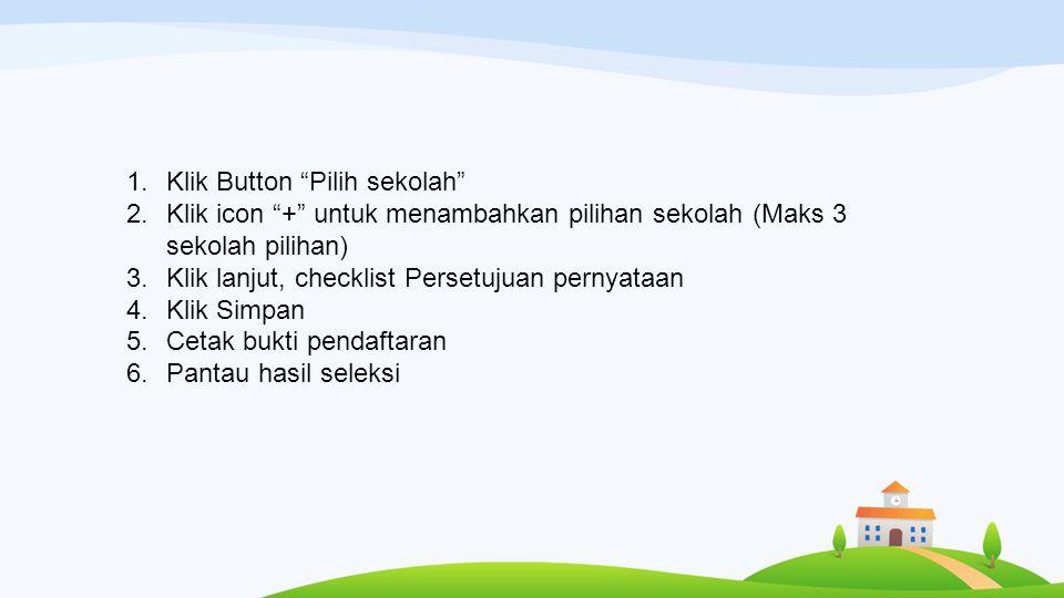 Klik Button Pilih sekolah