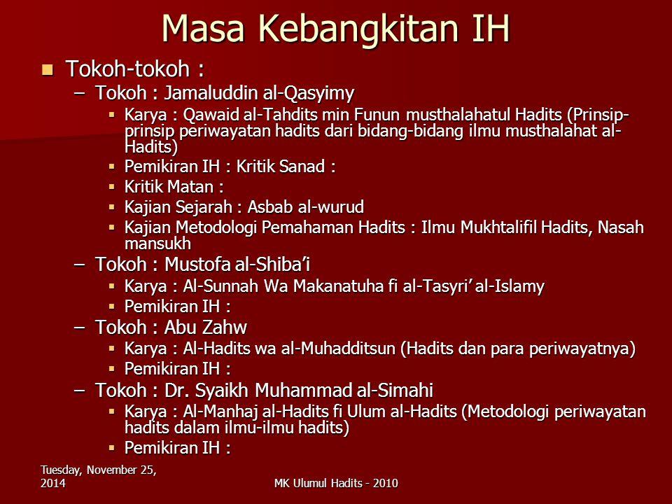 Masa Kebangkitan IH Tokoh-tokoh : Tokoh : Jamaluddin al-Qasyimy