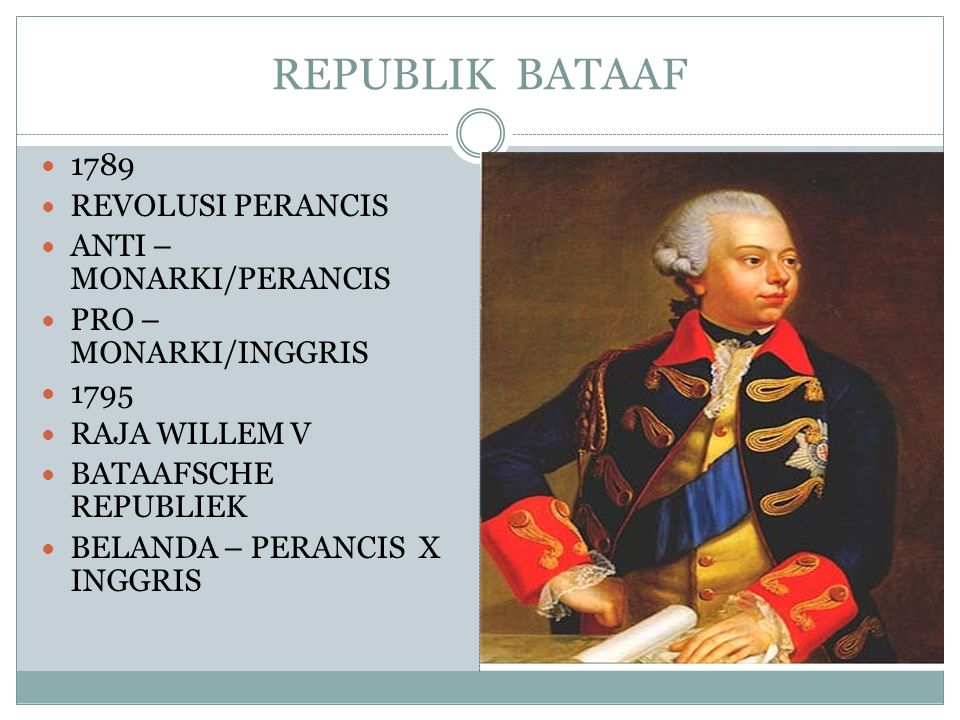 REPUBLIK BATAAF 1789 REVOLUSI PERANCIS ANTI – MONARKI/PERANCIS