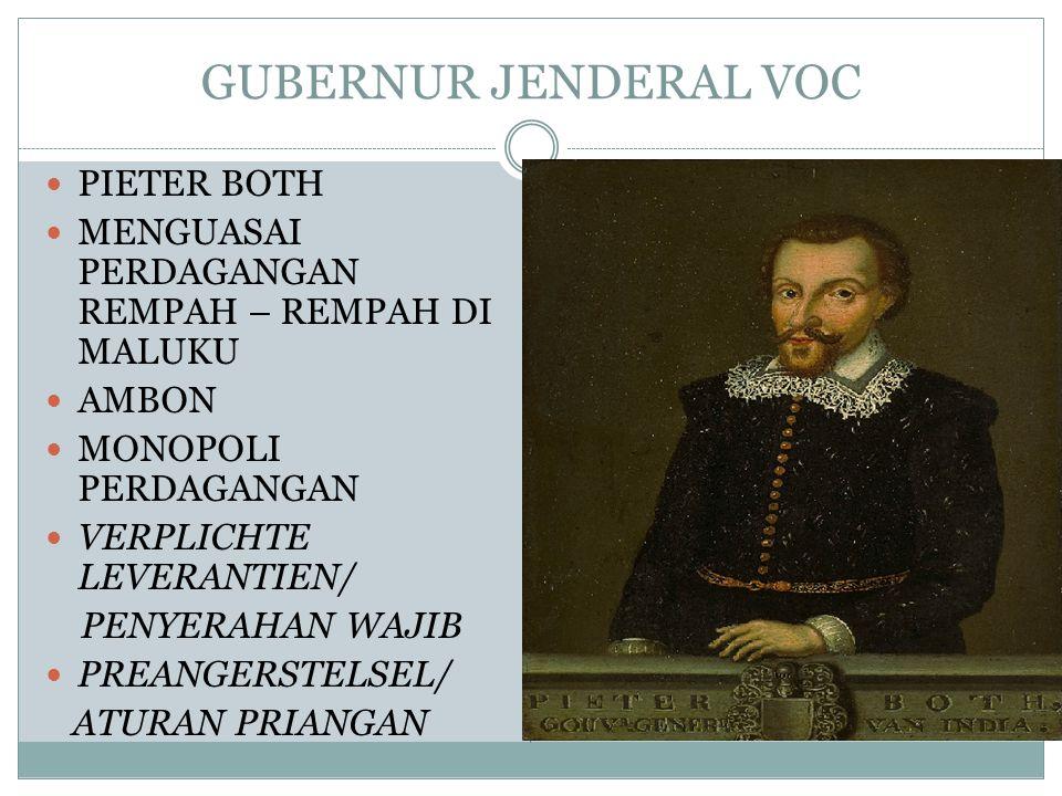 GUBERNUR JENDERAL VOC PIETER BOTH