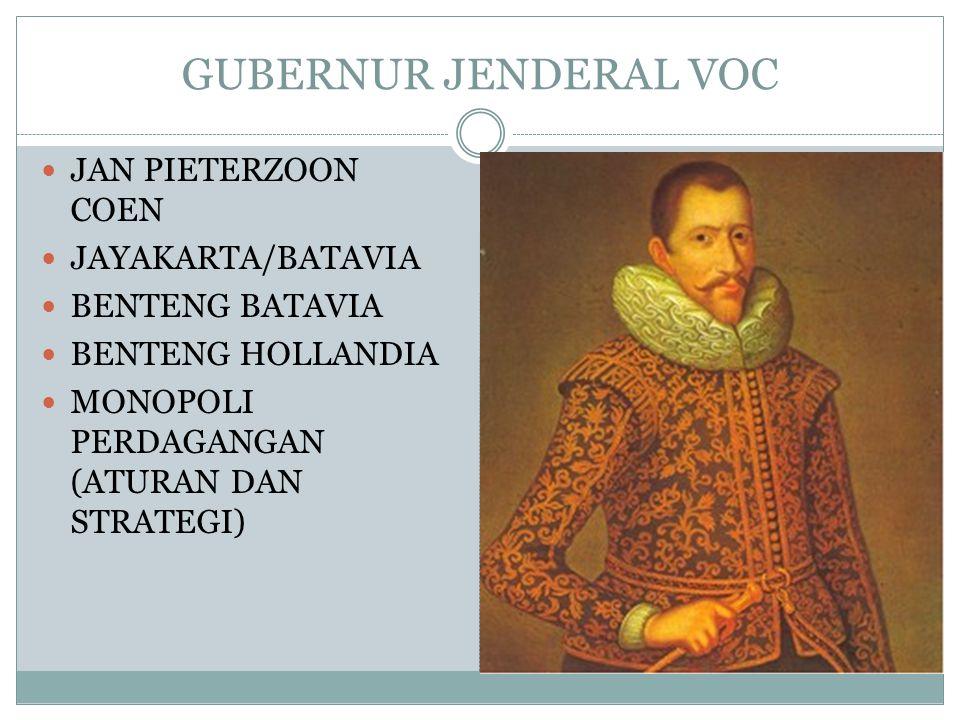 GUBERNUR JENDERAL VOC JAN PIETERZOON COEN JAYAKARTA/BATAVIA