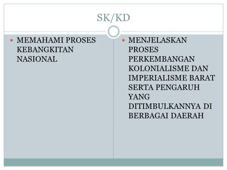 SK/KD MEMAHAMI PROSES KEBANGKITAN NASIONAL