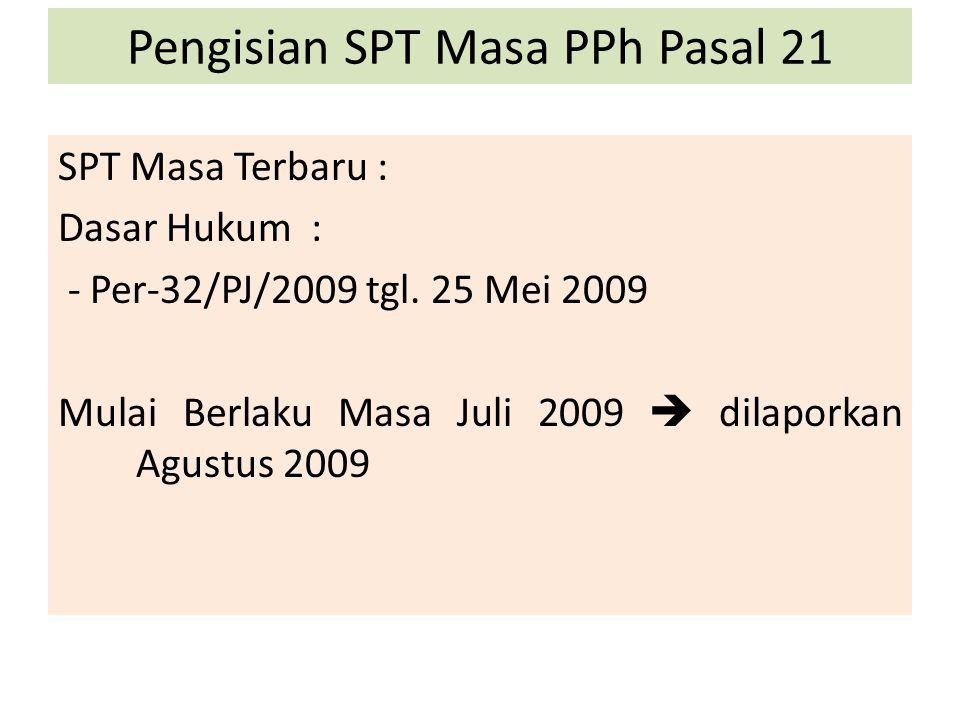 Pengisian SPT Masa PPh Pasal 21