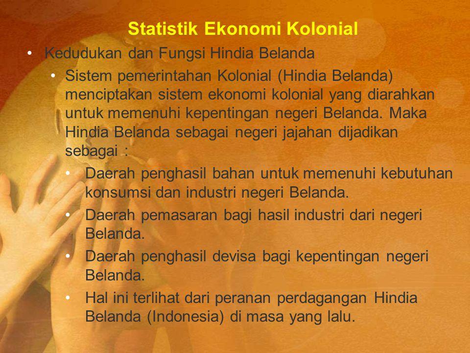 Statistik Ekonomi Kolonial