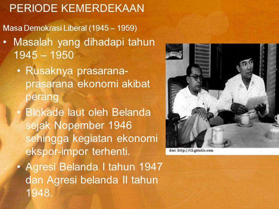 Masalah yang dihadapi tahun 1945 – 1950