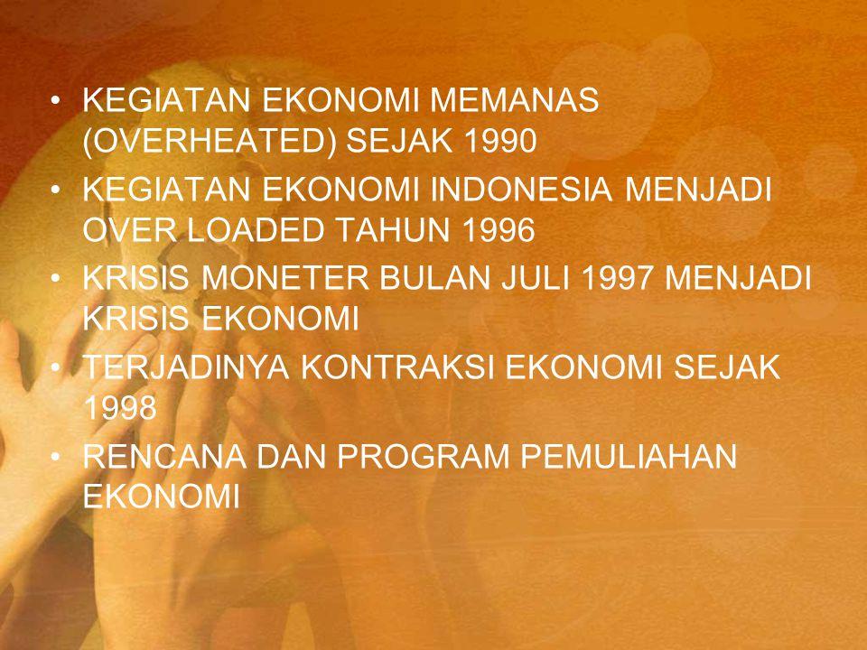 KEGIATAN EKONOMI MEMANAS (OVERHEATED) SEJAK 1990