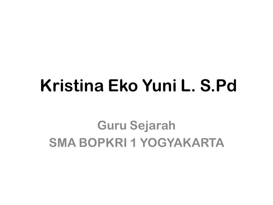 Guru Sejarah SMA BOPKRI 1 YOGYAKARTA