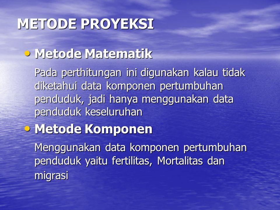 METODE PROYEKSI Metode Matematik