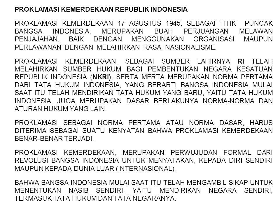 PROKLAMASI KEMERDEKAAN REPUBLIK INDONESIA