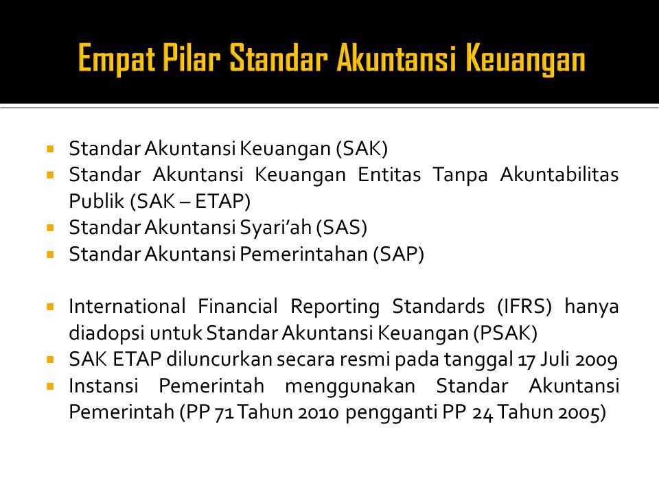 Empat Pilar Standar Akuntansi Keuangan